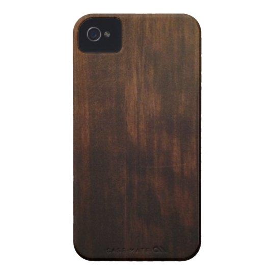 Very Dark Wood Grain iPhone 4 Case