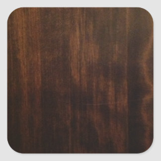 Very Dark Wood Grain Square Sticker