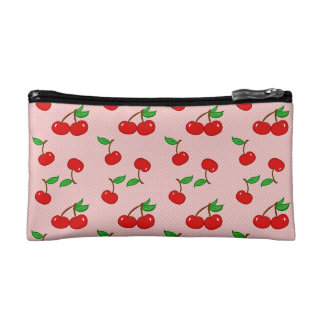 Very Dotty Cherry in Pink Makeup Bags
