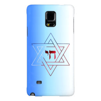 Very Elegant Star of David and Chai Galaxy Note 4 Case