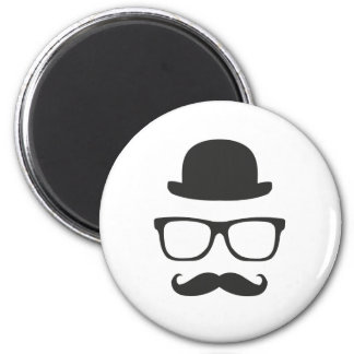 Very English Moustache 6 Cm Round Magnet
