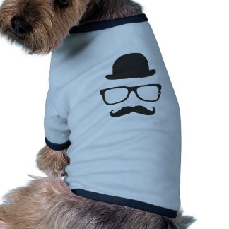 Very English Moustache Pet Shirt
