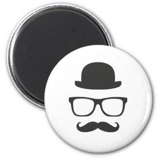 Very English Moustache Fridge Magnet