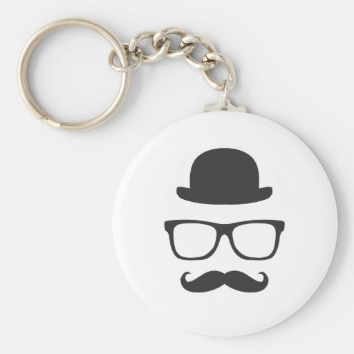 Very English Moustache Key Chains