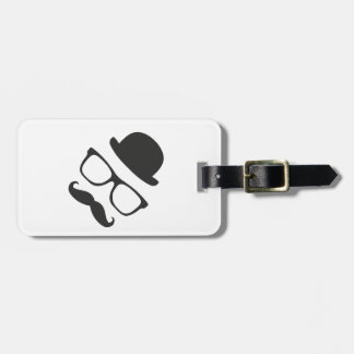 Very English Moustache Luggage Tag