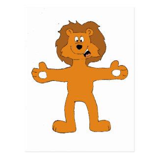 Very Friend Cartoon Lion Postcard