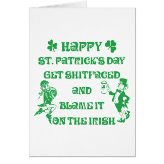 Very Funny Adult St Patrick's Day Greeting Card