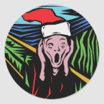 Very Funny Christmas Round Stickers