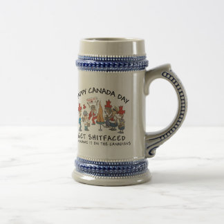 Very Funny Happy Canada Day Beer Stein