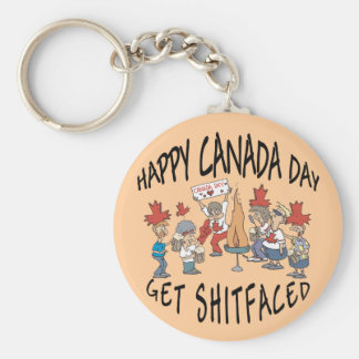 Very Funny Happy Canada Day Key Chains