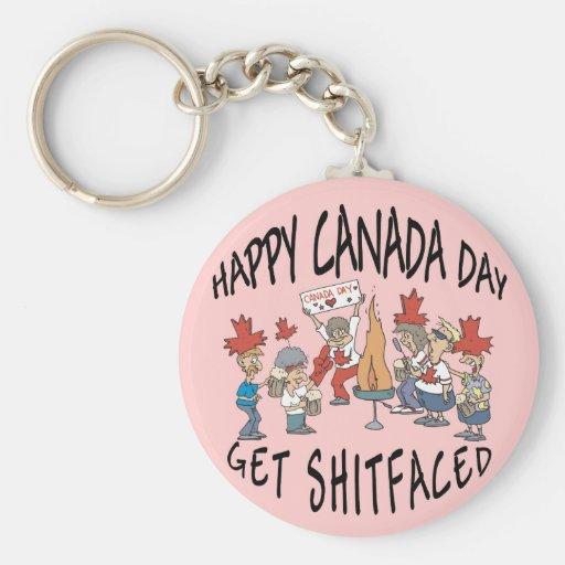 Very Funny Happy Canada Day Keychain