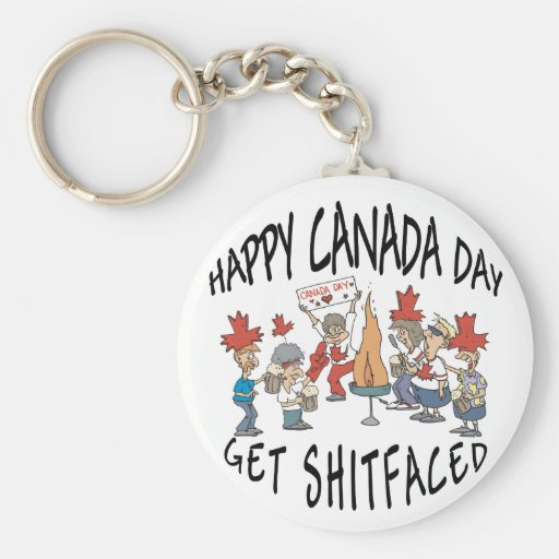Very Funny Happy Canada Day Keychains
