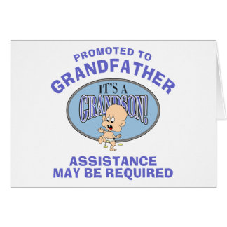 Very Funny New Grandson New Grandfather Greeting Card
