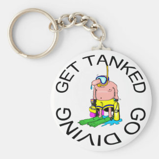 Very Funny SCUBA Diving Key Ring