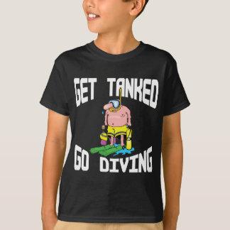 Very Funny SCUBA Diving Kids Dark T-Shirt