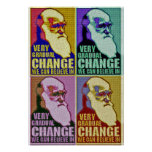Very Gradual Change (Darwin/Obama) Posters