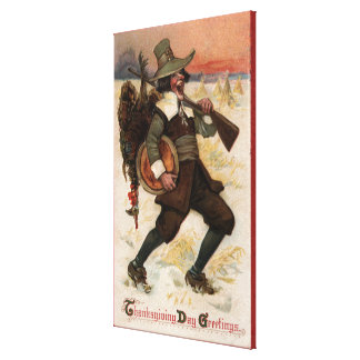 Very Happy Turkey Hunter Canvas Print
