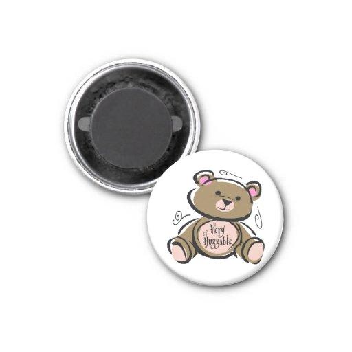 Very Huggable Teddy Bear Refrigerator Magnets