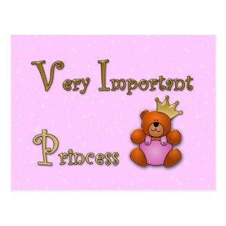 Very Important Princess - papershop Postcard