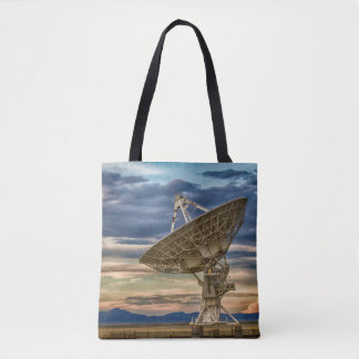 Very Large Array as sun sets Tote Bag