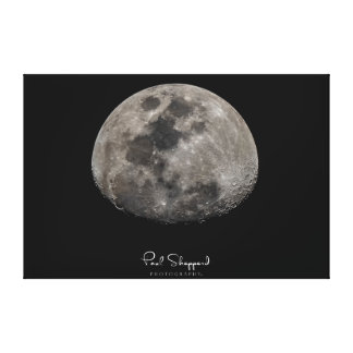 Very Large Detailed Moon Canvas Print