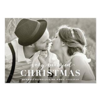 Very Married Christmas Newlywed Holiday Card 13 Cm X 18 Cm Invitation Card