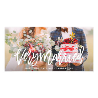 Very Married Photo Greeting Card