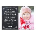 Very Merry Christmas Chalkboard Holiday Photo Card 13cm X 18cm Invitation Card