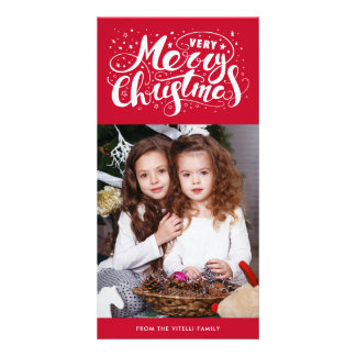 Very Merry Christmas Photocard | Red Card