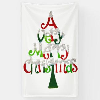 Very Merry Christmas Tree Banner