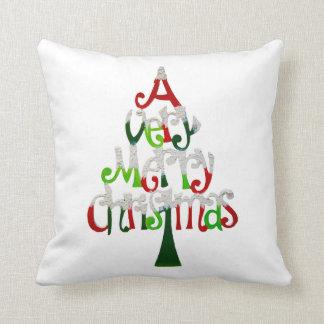 Very Merry Christmas Tree Cushion