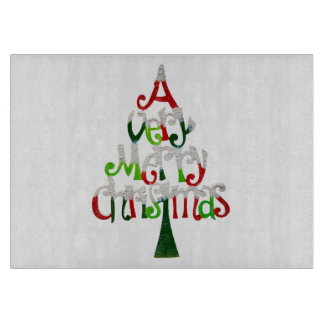 Very Merry Christmas Tree Cutting Board