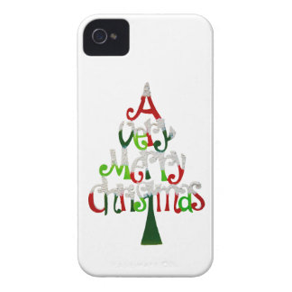 Very Merry Christmas Tree iPhone 4 Case-Mate Case