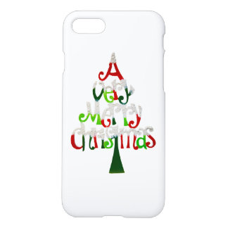 Very Merry Christmas Tree iPhone 7 Case