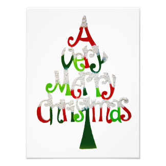 Very Merry Christmas Tree Photo Art