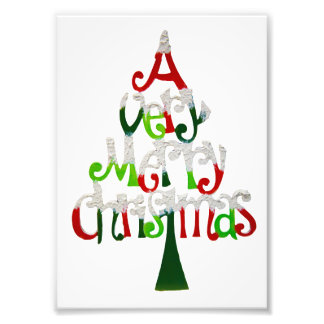 Very Merry Christmas Tree Photo Print