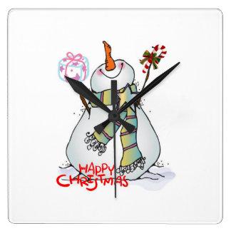"""VERY MERRY SNOWMAN"" CHRISTMAS CLOCK"