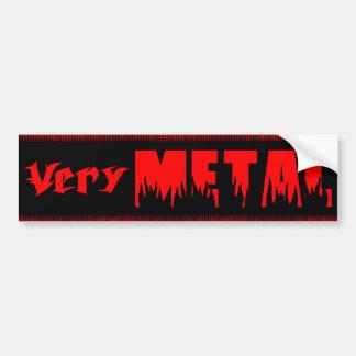 Very Metal red Bumper Sticker