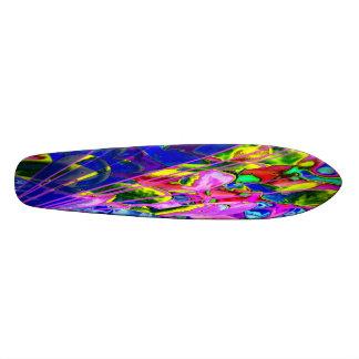 very multicolored skate board deck