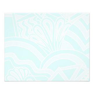 Very Pale Blue Art Deco Style Background Design. 11.5 Cm X 14 Cm Flyer