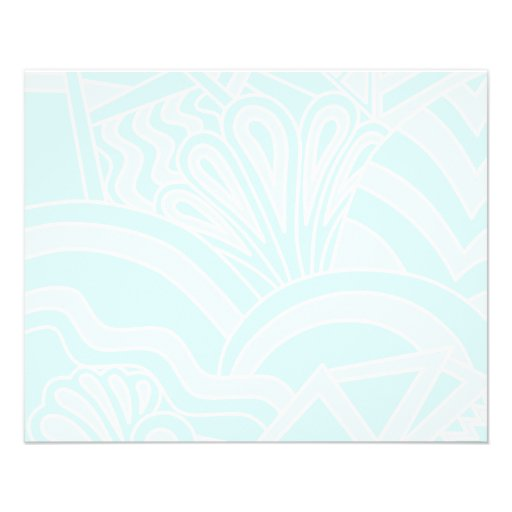 Very Pale Blue Art Deco Style Background Design. Personalized Flyer