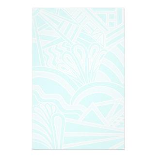 Very Pale Blue Art Deco Style Background Design. Custom Flyer