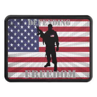 Very Patriotic Defending Freedom American Flag Tow Hitch Covers