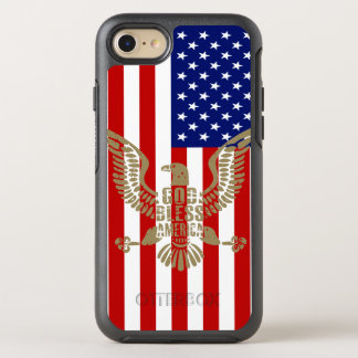 Very Patriotic God Bless America American Flag OtterBox Symmetry iPhone 8/7 Case