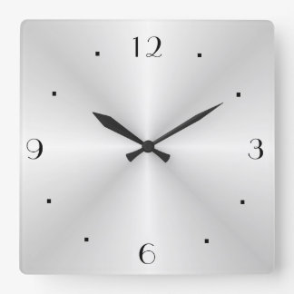 Very Plain Silver > Wall Clock