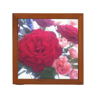 Very preaty red rose ‎ desk organiser