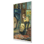 Very Precious Wishes For You, Victorian Christmas Canvas Print