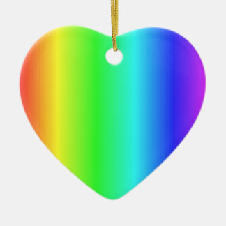 Very Pretty Rainbow >Heart Ornaments