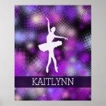 Very Purple Dancer Half-Tone Poster