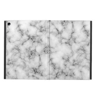 Very realistic White Marble natural stone Cover For iPad Air